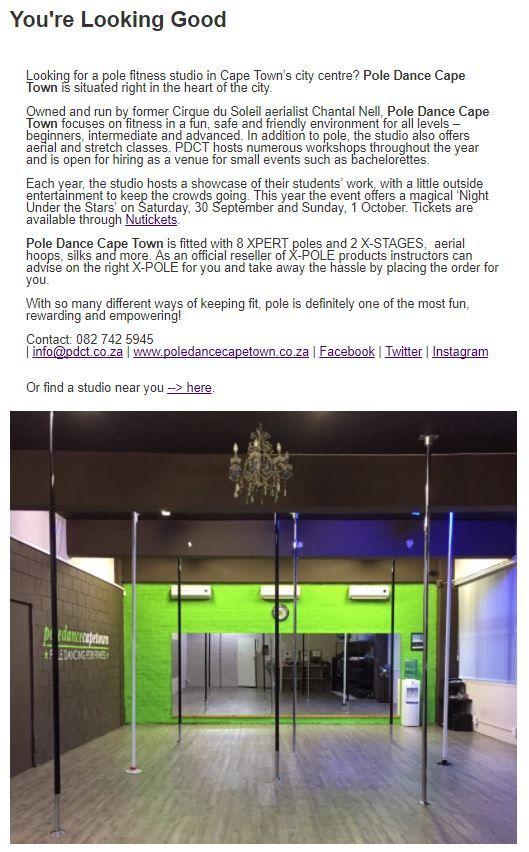 Pole Dance Cape Town #inpoleposition #studiospotlight