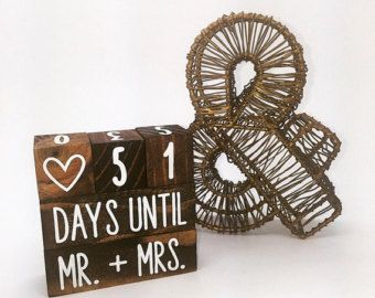 Wedding Countdown Blocks by ShoppeWinsome on Etsy
