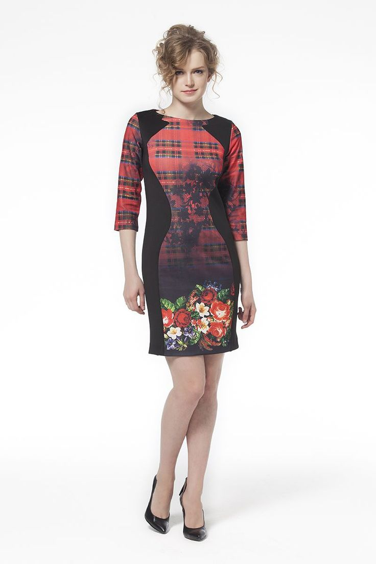 Çiçek Desenli Elbise Kırmızı Çiçek Desenli Kırmızı Siyah Elbise Elbise En Trend Elbiseler 89,90 TL