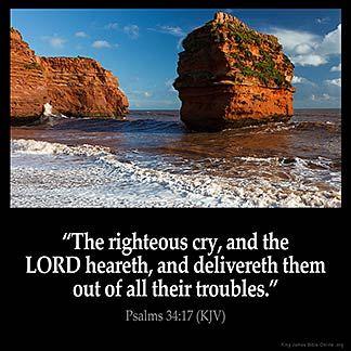 Imagem inspirada para Salmos 34:17