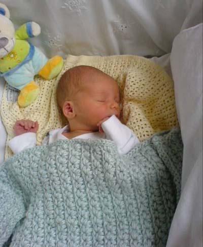 Tunisian Crocheted Baby Blanket