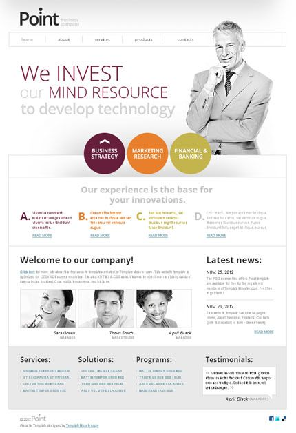 Free Website Template for Business #HTML5  http://www.templatemonster.com/free-templates/free-website-template-jquery-slider-business-company.php?utm_source=Pinterest&utm_medium=timeline&utm_campaign=frbizzzth
