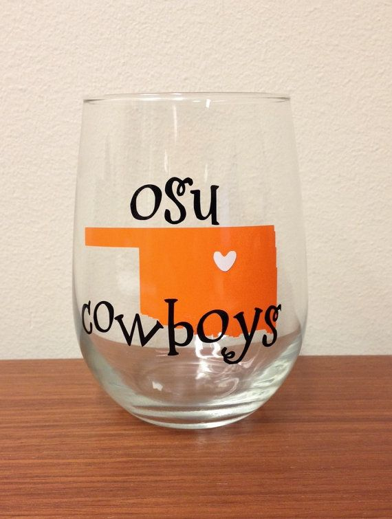 Stillwater, Oklahoma Wine Glass - Oklahoma State University Cowboys on Etsy, $9.00