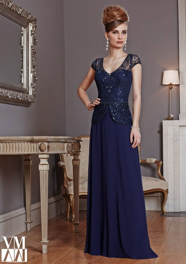 bolero evening dress and mother of the bride dress from VM by Mori Lee Dress Style 71011 Chiffon/Mesh