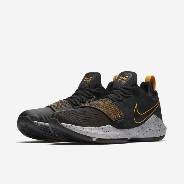 c853bf442bb Nike PG 1 Paul George 878627-006 Black Grey Gold Men s Basketball Shoes  NEW! George Nike PG