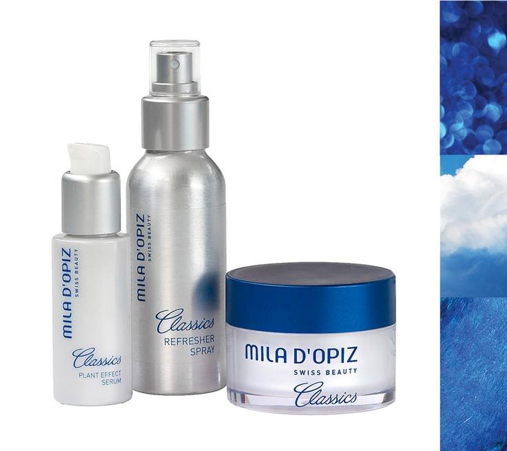 Mila d'Opiz Australia - Mila Classics Plant Effect Serum, Refresher Spray & Collagen Optima Cream. These beauty elixirs will make your skin look more youthful, vital & fresh.