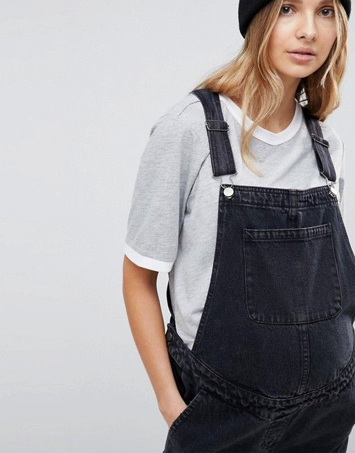 745db2d2082fe ASOS Maternity | ASOS DESIGN Maternity denim overall in washed black