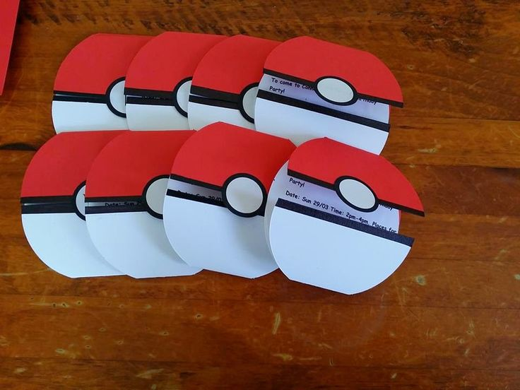 Adventures of a Dyspraxic Organised Scrapper: Pokeball Birthday Invites