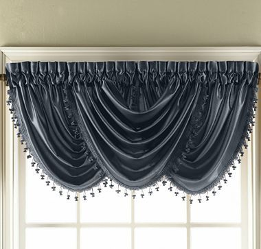 valances polyester n b compressed scarves window in l valance knight saturday rod treatments white pocket