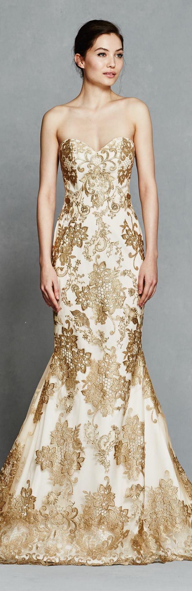 Gold Wedding Dress by Kelly Faetanini Spring 2017