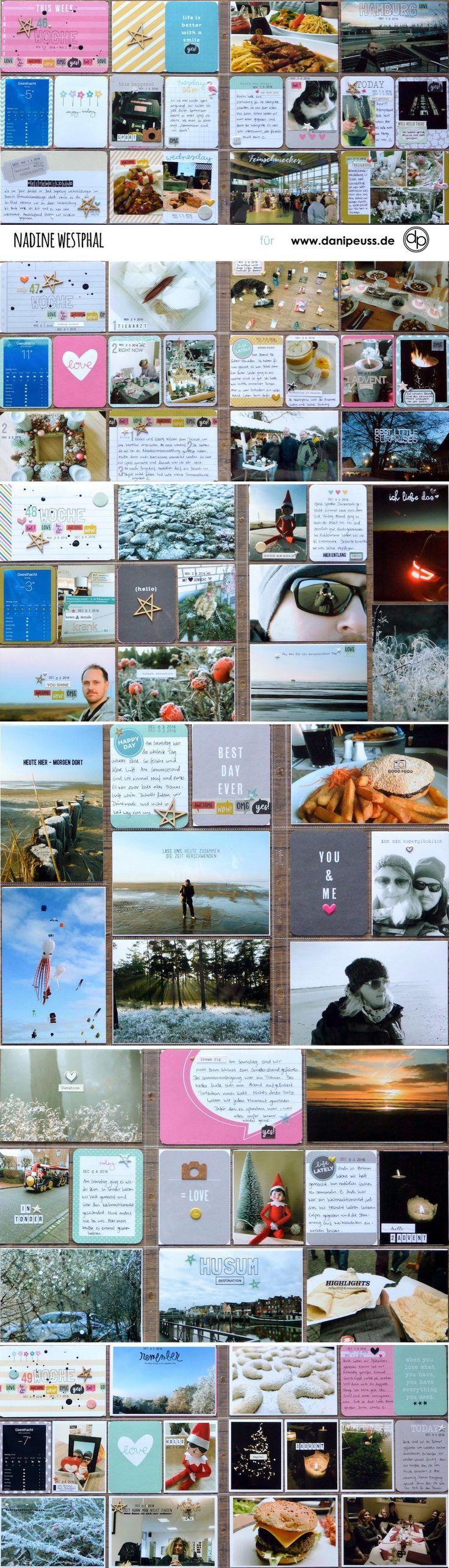 Project Life Doppelseiten mit dem Juni PL Kit | von Nadine Westphal für www.danipeuss.de