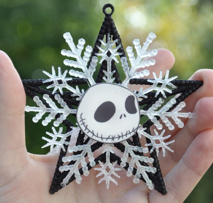 Jack Skellington Christmas Ornament - Nightmare Before Christmas by TheCheekyCupcake on Etsy https://www.etsy.com/listing/208532284/jack-skellington-christmas-ornament