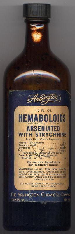 ~Tired Blood?~Arlington's ARSENIC & STRYCHNINE Tonic!~ #DéficitEnFer #Anémie