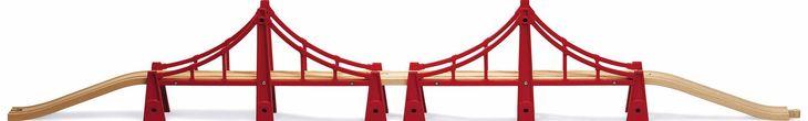 BRIO double suspension bridge Over 1m 3 5 feet of fun The longest BRIO bridge in a play friendly design with side integral bridge http://www.comparestoreprices.co.uk/educational-toys/brio-double-suspension-bridge.asp