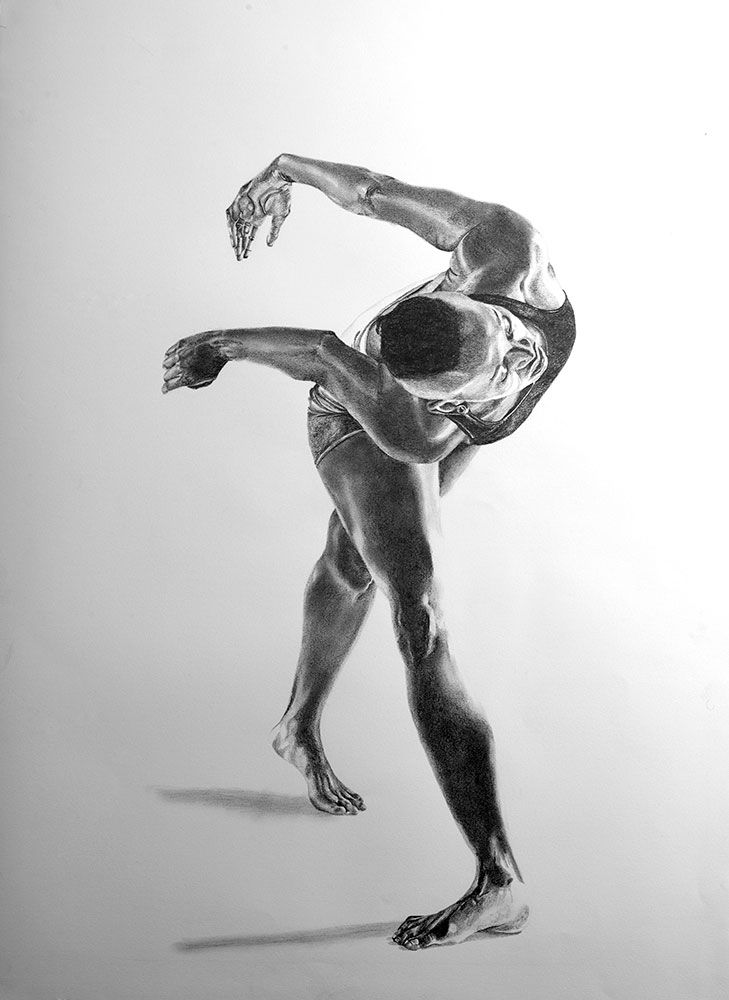 'Lose Yourself III' by Kendall-Leigh Nash. Beautifully captured dance in pencil on paper available through our online gallery.