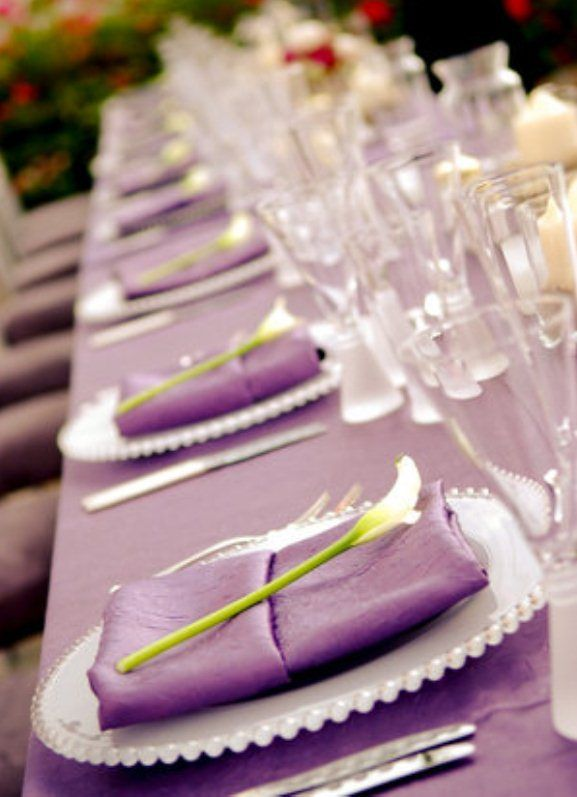 115 best purple table settings and weddings images on pinterest purple wedding reception table setup decorations how to organise your reception junglespirit Image collections