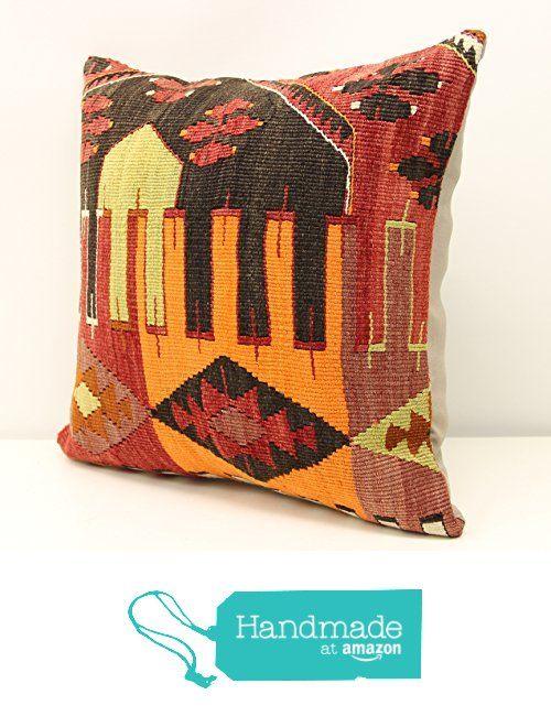 Art Deco kilim pillow cover 16x16 inch (40x40 cm) Boho kilim pillow cover Home Decor Natural Pillow cover Chevron Kilim Cushion Cover from Kilimwarehouse https://www.amazon.com/dp/B01MZ3LBH8/ref=hnd_sw_r_pi_dp_VPMyybS9B2SR8 #handmadeatamazon