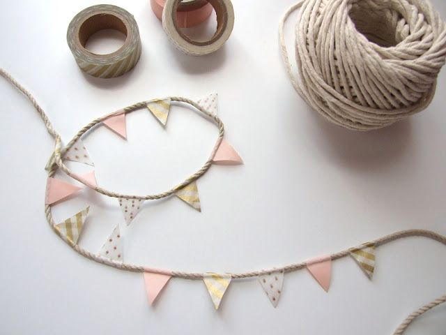 FIVE MINUTE CRAFTS – DIY WASHI TAPE BUNTING.