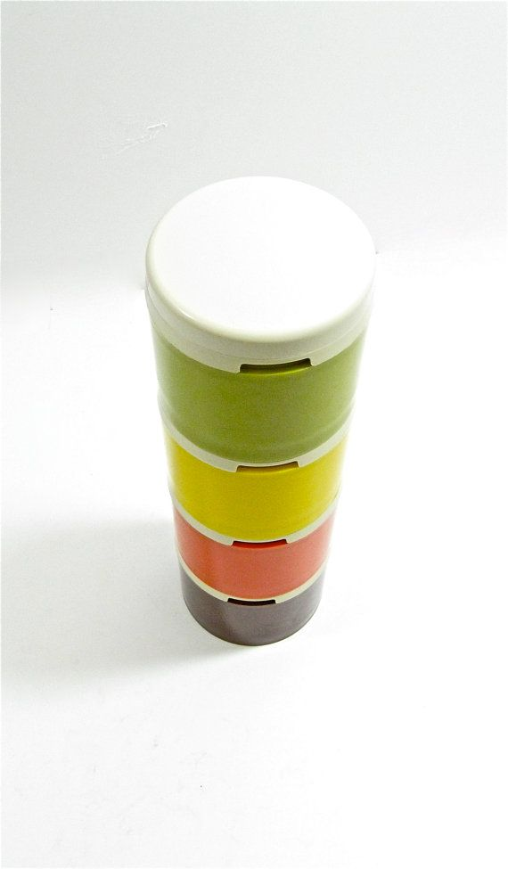 1970s Tupperware Spice Shaker Set by OliveandFrances on Etsy