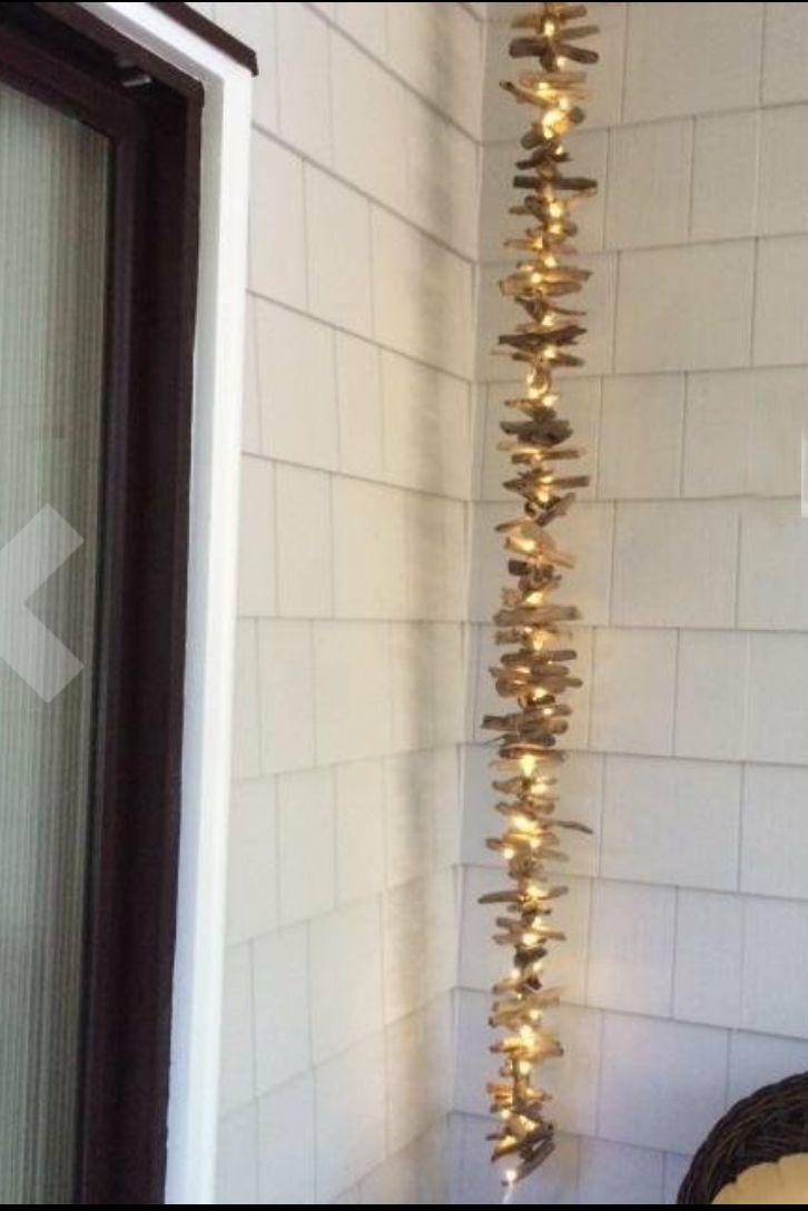 Driftwood  + twinkle lights
