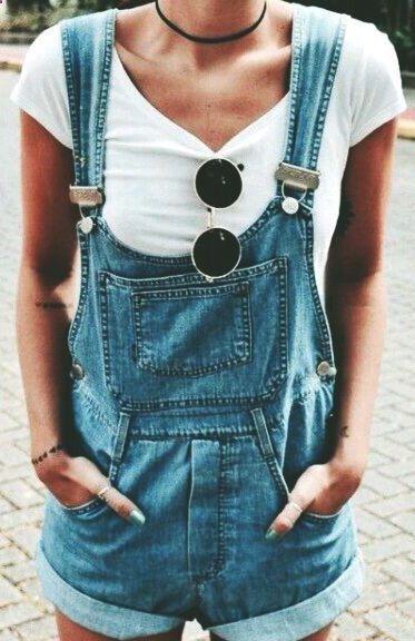 #summer #fashion / t-shirt   overall