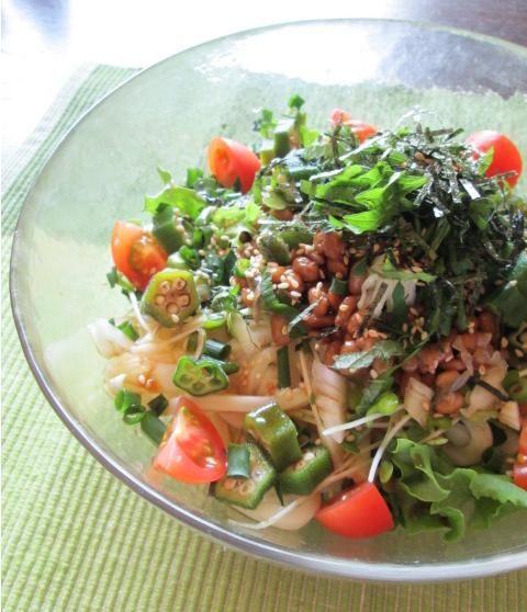 ねばねばで美肌のサラダうどん : YUKA'sレシピ♪ e0274872_22493189.jpg
