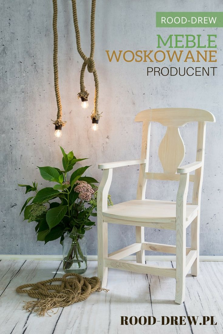 Usiądź wygodnie i poczytaj książkę.  Krzesła, ławki, fotele i taborety drewniane