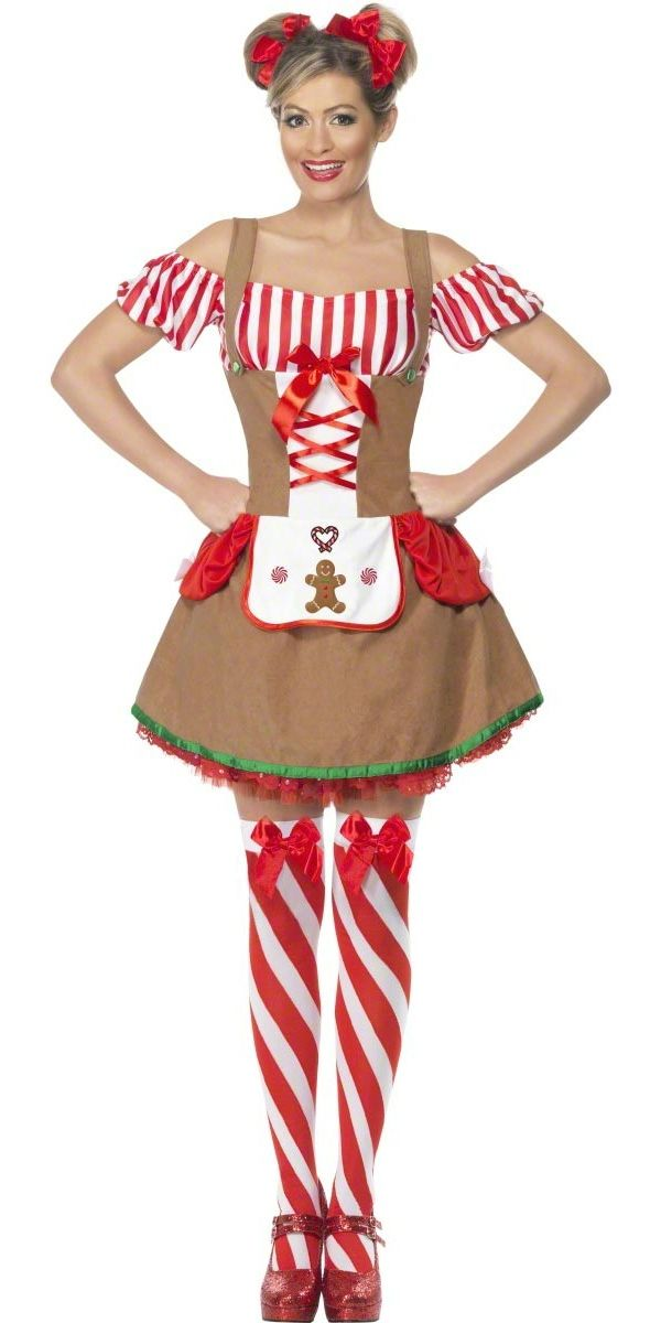 Christmas+elf+costume+Women | Christmas Fancy Dress > Ladies Christmas Costumes > Gingerbread Woman ...