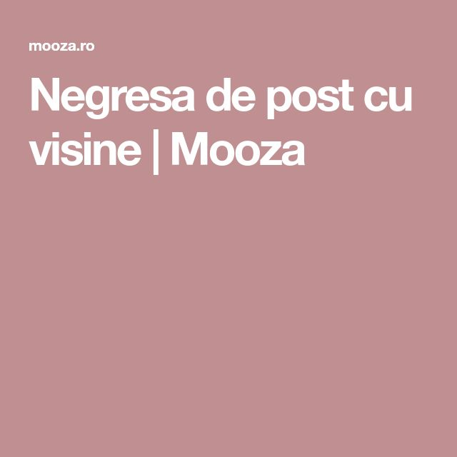 Negresa de post cu visine