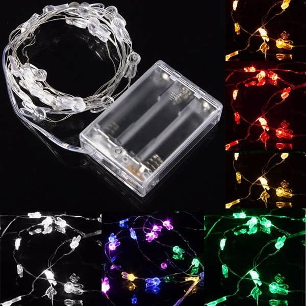 2M 20 LED Rabbit Head Battery Operated Xmas String Fairy Lights Party Wedding Christmas Decor  Worldwide delivery. Original best quality product for 70% of it's real price. Buying this product is extra profitable, because we have good production source. 1 day products dispatch from...