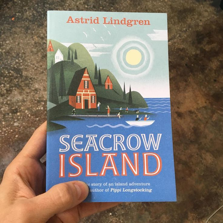 """My cover for Astrid Lindgren's """"Seacrow Island."""" I've been smelling the ink since it arrived. 🌞🕊"""