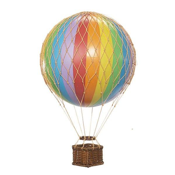 Hot Air Balloon Ornament (small) - Rainbow
