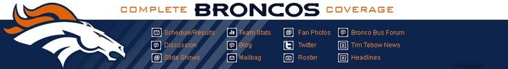 Denver Broncos Menu