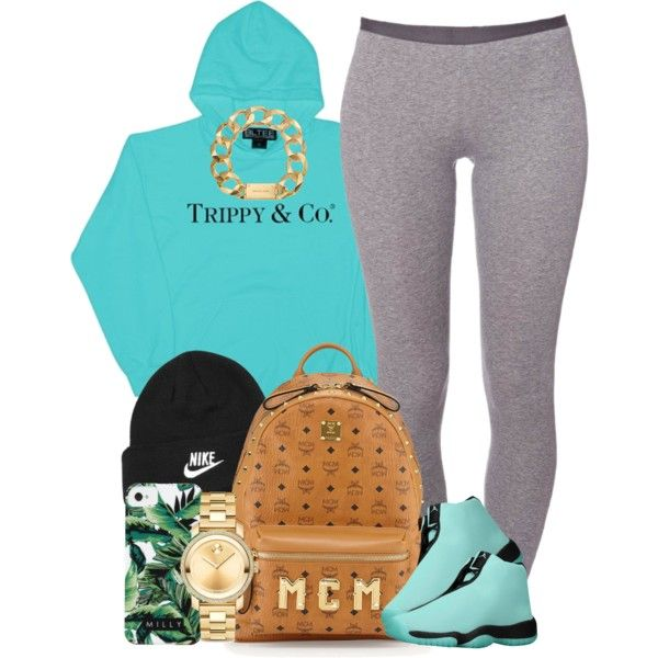 Tiffany Blue. by livelifefreelyy on Polyvore featuring CO, Schiesser, MCM, Movado, Michael Kors, NIKE and Milly