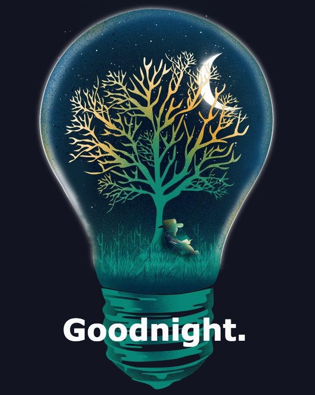 Good Night and Lights Out, Sweet Dreams Friends. ..