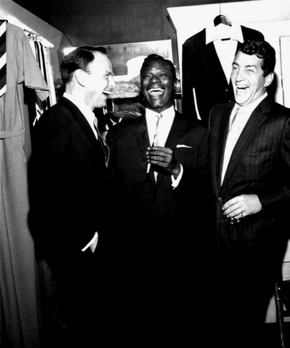 Frank Sinatra, Nat King Cole, and Dean Martin