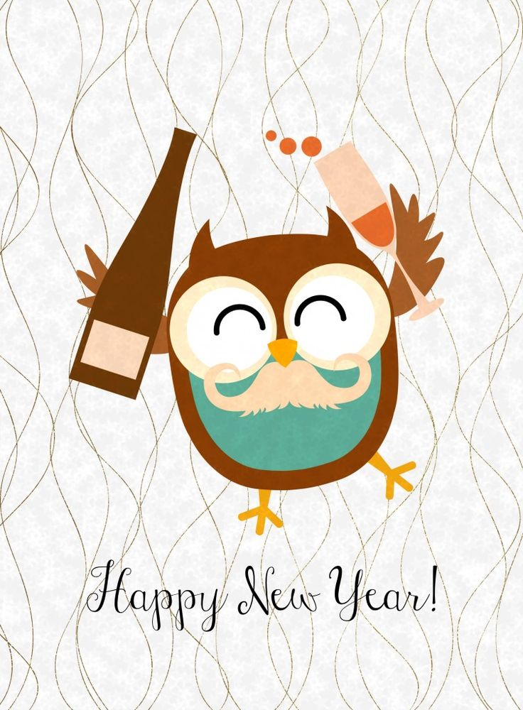 Free Happy New Year Owl Printables {3 more designs to choose from} from Glued To My Crafts