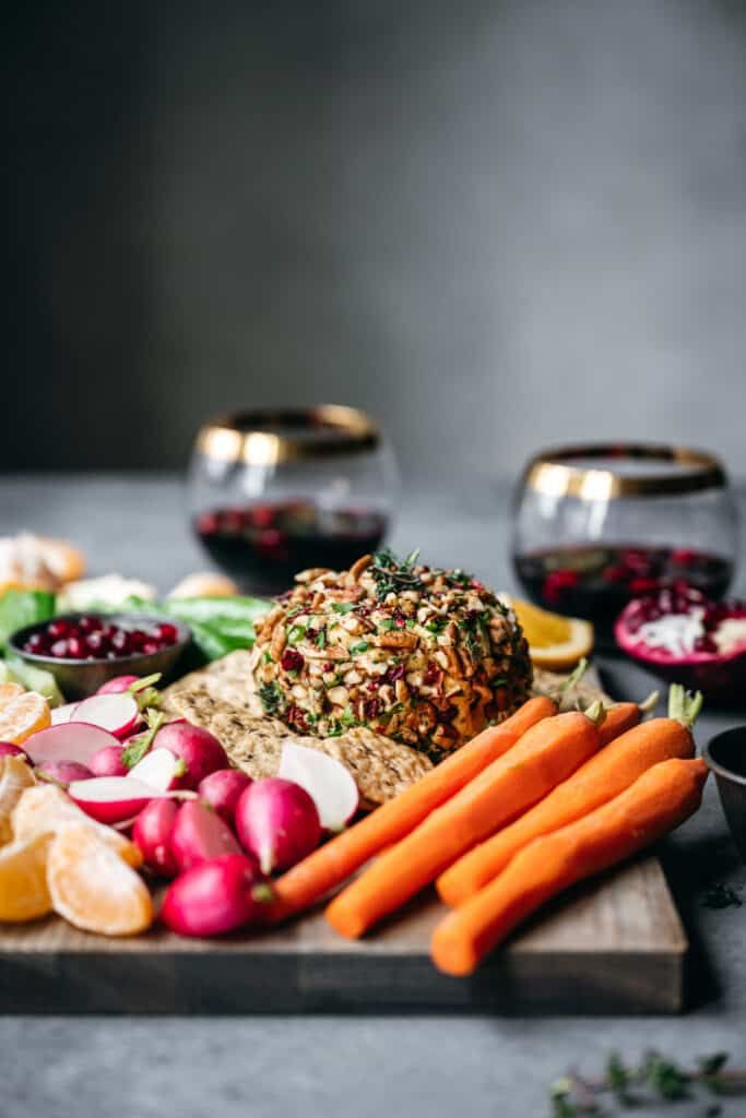 Vegan Cheese Ball Make Ahead Holiday Appetizer Crowded Kitchen Recipe In 2020 Vegan Appetizers Vegan Cheese Ball Recipe Vegan Cheese