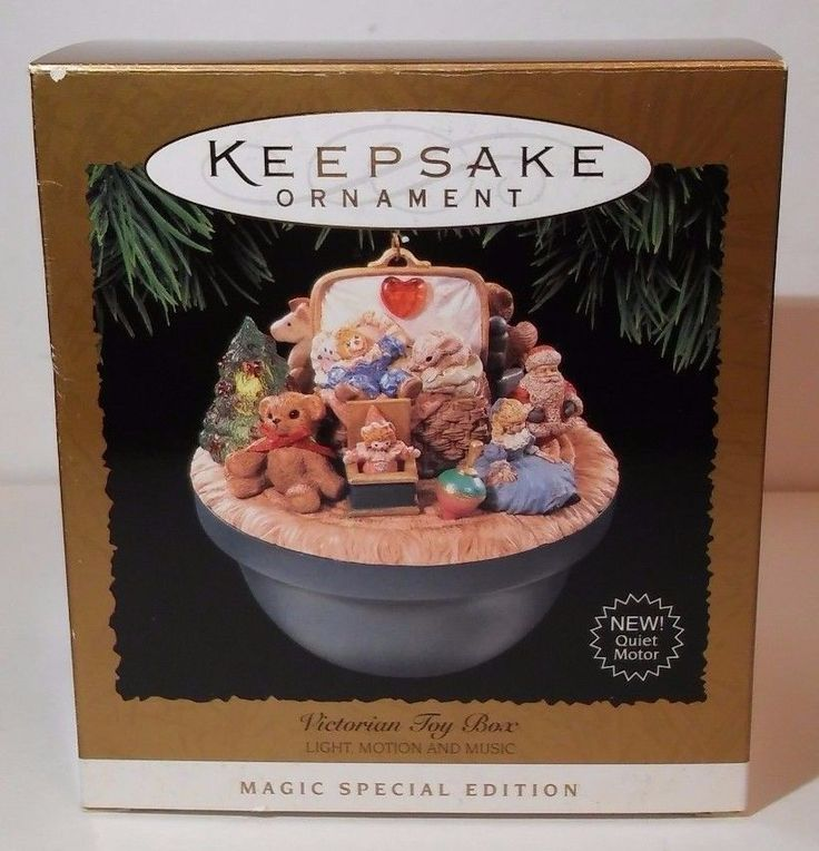 Hallmark Keepsake Ornament Victorian Toy Box Light Motion Music Special Edition