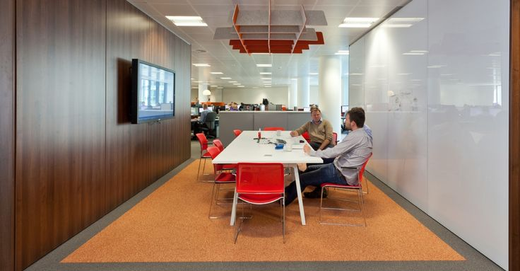 Breakout meeting area large screen wipe board for Office design bristol