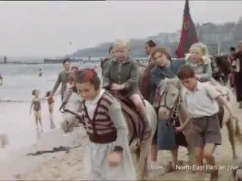 Rare Color Footage Capture Daily Life at Whitley Bay in 1952
