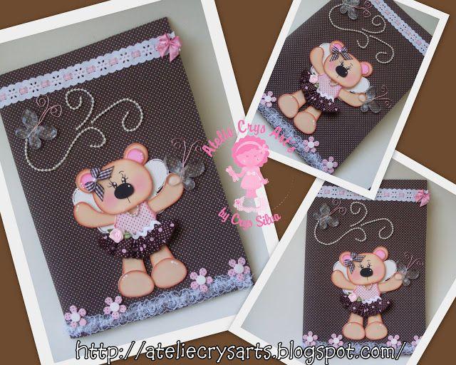 Atelie Crys Art's: capa de caderno decorada