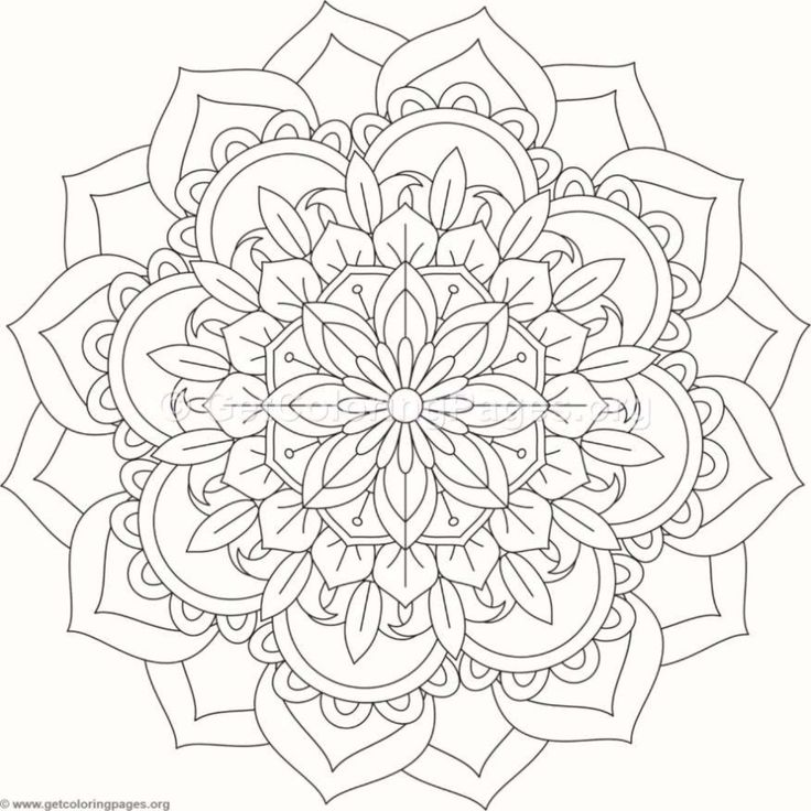 Flower Mandala Coloring Pages #521 – GetColoringPages.org
