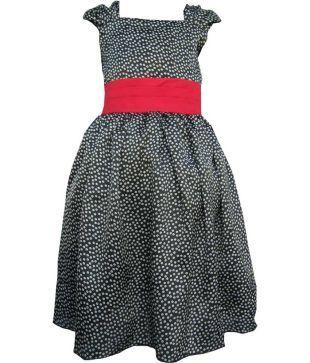 Liru Creations Black & Red Party Dress