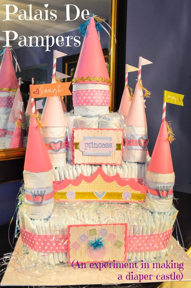 Some people make diaper cakes.  I make Diaper Castles.  You know you want to try it...    #Pampers, Palace, Nappies, Baby Shower, Baby Sprinkle