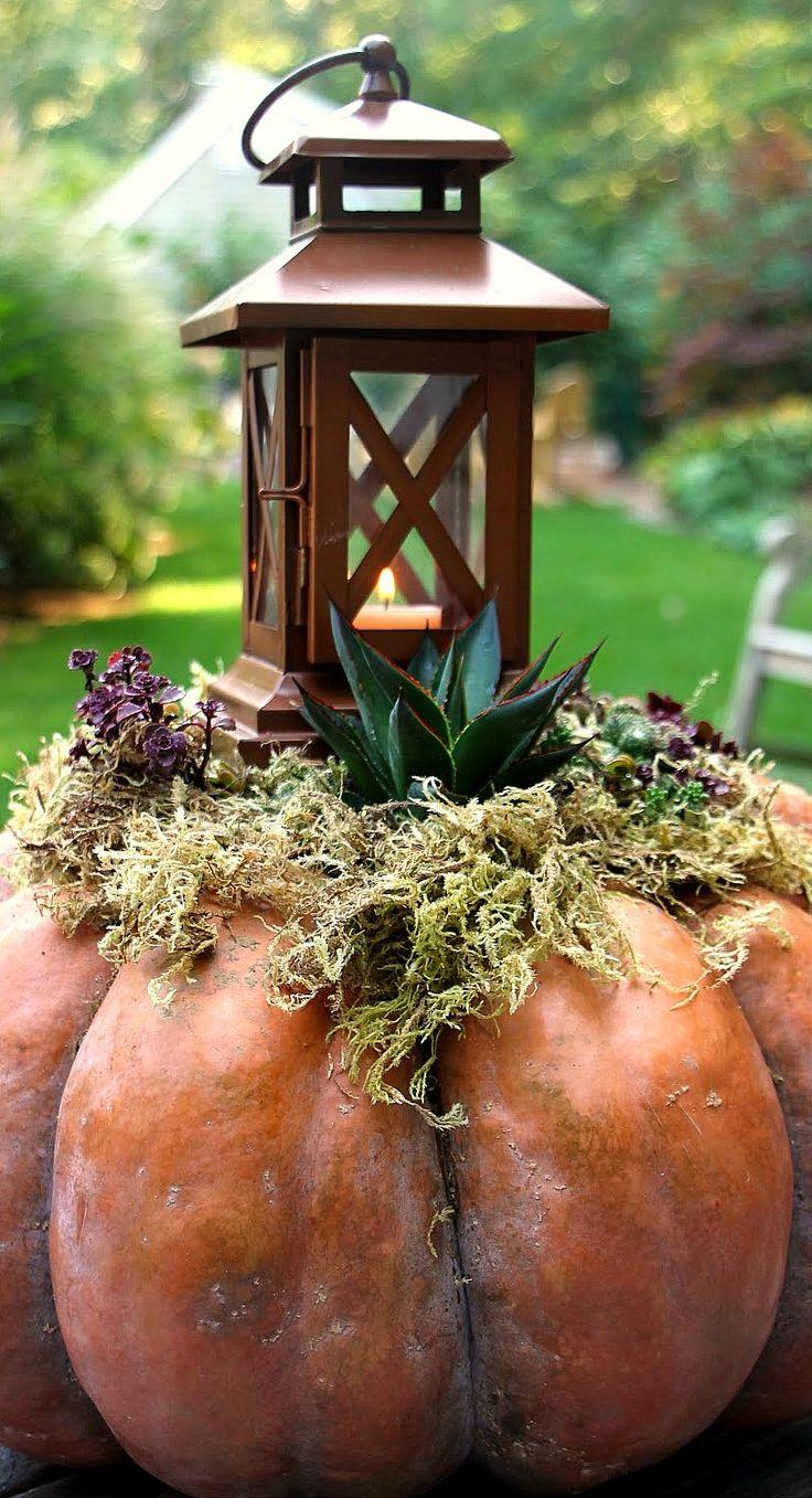 Outdoor Pumpkin Planter