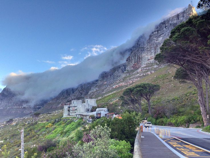 "A classic ""table-cloth"" formed by clouds on Table Mountain, Cape Town. (Photo: A. Jacobsen)"