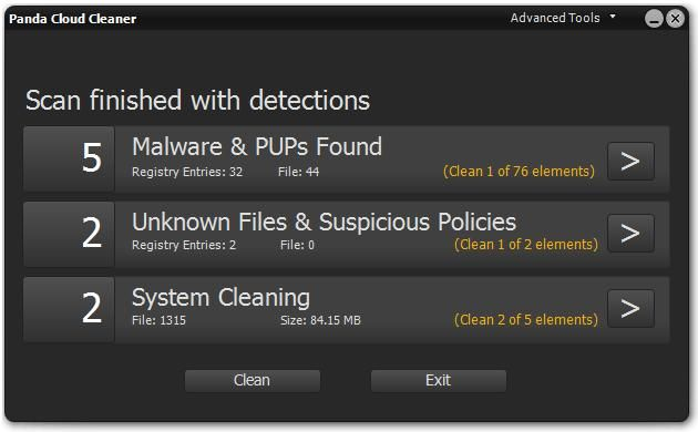Panda Cloud Cleaner 1.1.7 An advanced disinfector that detects malware that traditional security solutions cannot detect. #computers #software #freeware