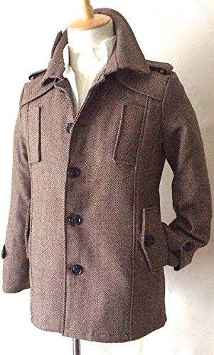 Normcore sense( ノームコア センス )ビジネス に OFF にも! タイムリーに着られる 英国調 春 コート スプリング ツィード ジャケット トレンチコート / コーデ を格上げする 上品 な 杢(もく)メランジ感 / 春 インナーとも 好相性 モテ きれいめ 好感度◎ 三寒四温の季節に 吉 メンズ 大きい サイズのご用意ございます (杢ブラウン, XL)