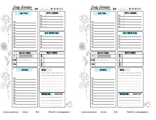 The 25+ best Daily planner pdf ideas on Pinterest Planner pdf - free daily planner download
